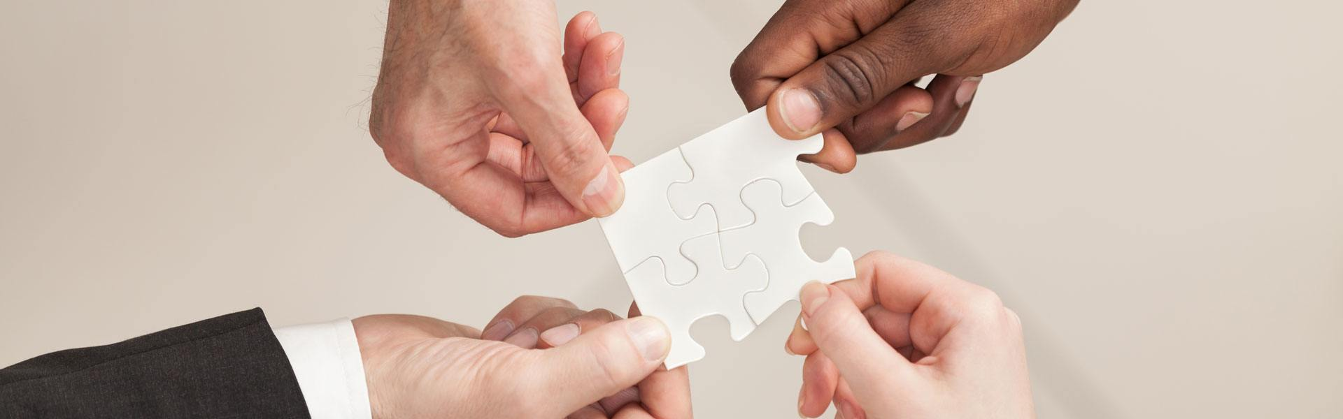 holding jigsaw pieces together