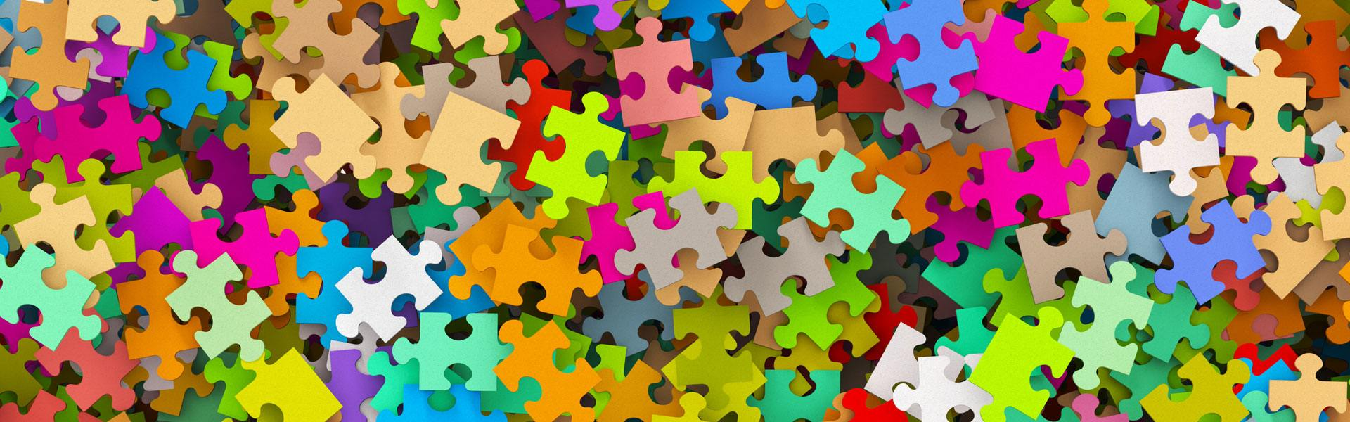 colourful jigsaw pieces